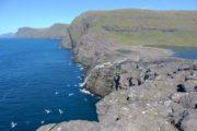 Udsigt til Bosdalafossur Færøerne