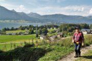 Vandring fra St.Wolfgang im Salzkammergut op mod Schwarzensee