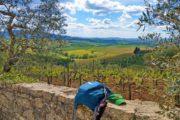 Vandreferie Toscana vinmarker og rygsæk