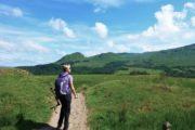 Vandrer på West Highland Way nær Drymen
