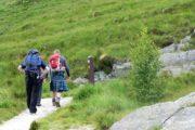 Skotsk vandrer i kilt på West Highland Way