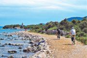 Cykling langs vandet på Losinj