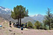 Frokoststop i bjergpasset Tizi n´Tamatert