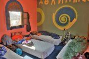 Soverum i gæstehus i Tacheddirt
