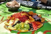 Farverig frokost med masser af grøntsager