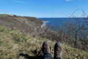 Pause med udsigt på vandretur på Helgenæs