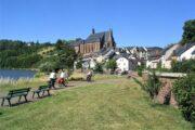 charmerende landsby på Mosel Radweg