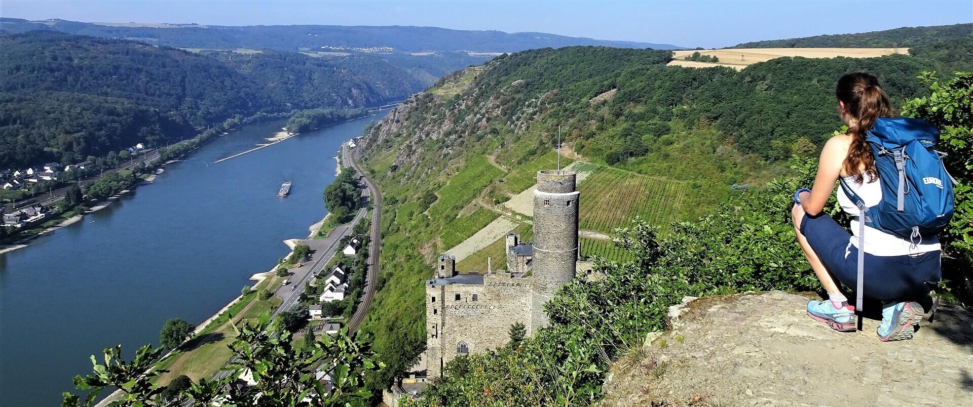 Vandring langs Rhinen