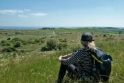 Udsigt fra Trehøje i Nationalpark Mols Bjerge